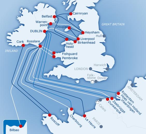 fährverbindungen irland karte Lkw Fähren nach Irland, Nordirland, Isle of Man   PIQUE Ferry Agency