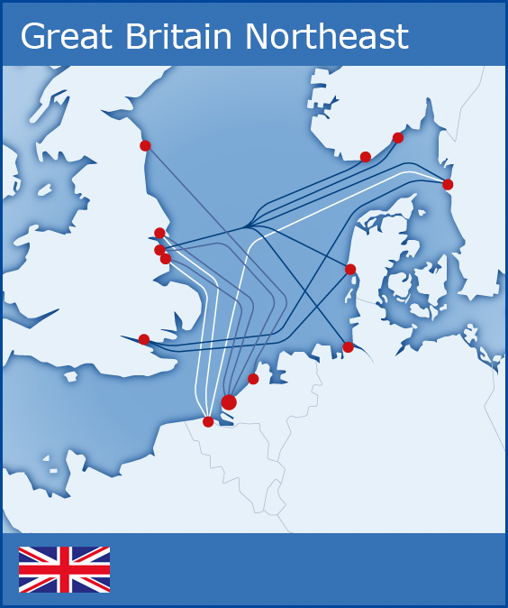 Map Of Uk Ferry Routes.Truck Ferry Routes